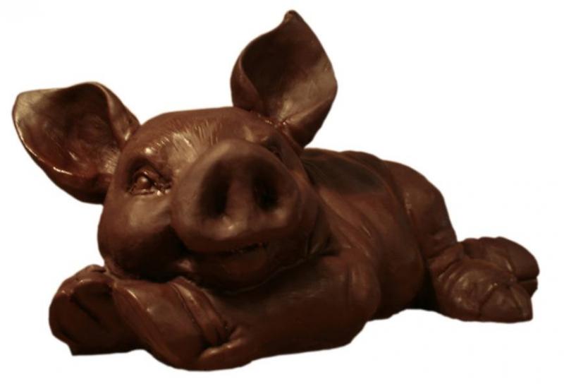 Шоколадная свинья, фигурка поросенка  символа 2019